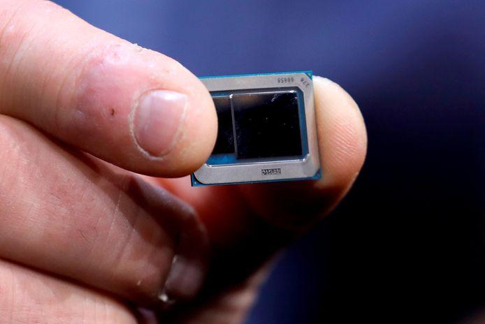 Een Intel Tiger Lake chip.