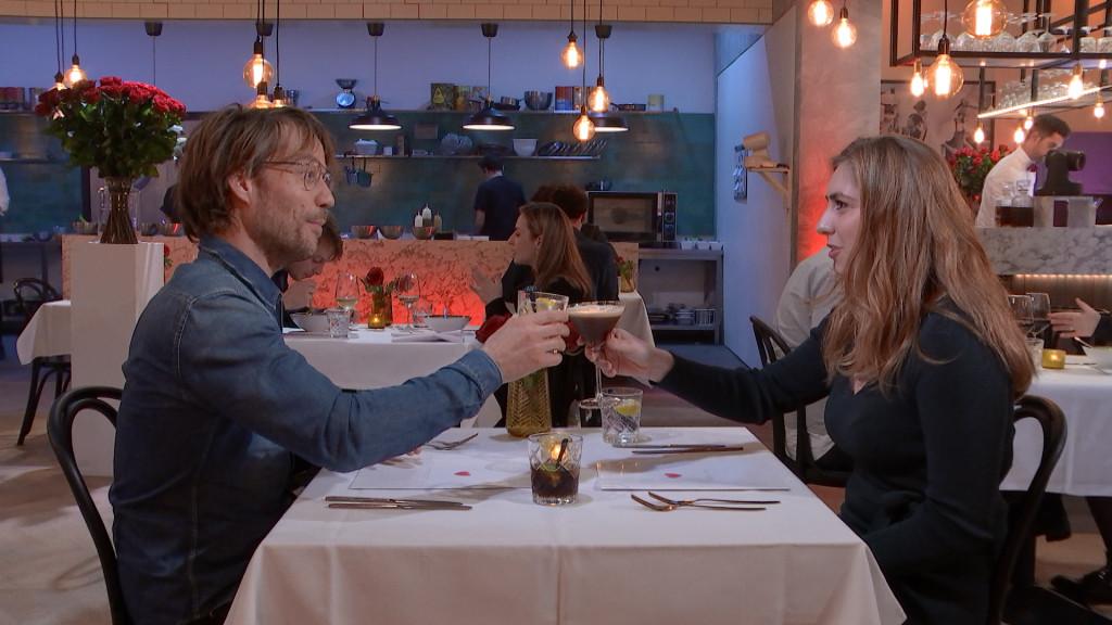 Giel Beelen vindt zijn nieuwe liefde Malou in de Valentijnsuitzending van First Dates