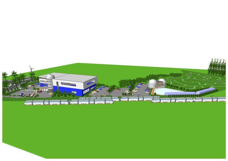 Een schets van hoe het domein er na de uitbreiding zal uitzien.