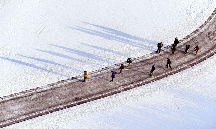 In januari 2010 kon er volop worden geschaatst op de Ankeveense Plassen.