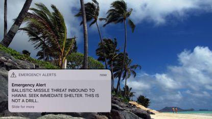 """Inwoners Hawaï krijgen per ongeluk waarschuwing voor raketaanval: """"Werknemer duwde verkeerde knop in"""""""