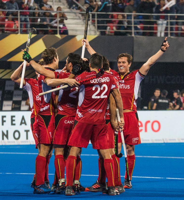 De Belgische ploeg was in de halve finale veel te sterk voor Engeland: 6-0. Beeld BELGA