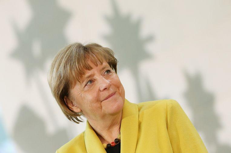 De Duitse bondskanselier Angela Merkel. Beeld getty