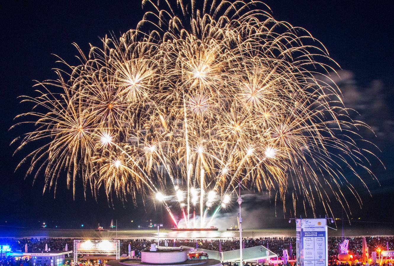 Internationaal vuurwerkfestival Scheveningen.(Den Haag 11-08-18) Foto:Frank Jansen
