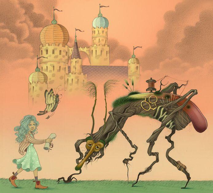 Zamelaar en Veerke, illustratie in Zilverveer van Rieks Veenker