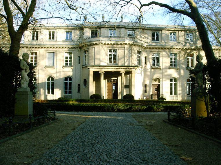 Wannsee, nabij Berlijn; de plek waar in 1942 in een efficiënte vergadering van twee uur werd beslist over het lot van miljoenen Joden.   Beeld Wikipedia