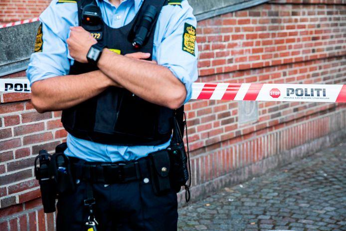 Een Deense agent houdt de wacht.