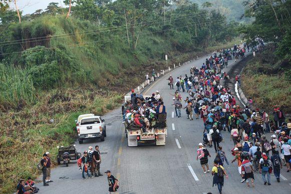 De migranten zijn intussen al meer dan tien dagen onderweg.