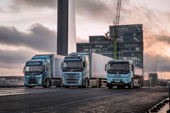 De elektrische trucks van Volvo zijn niet welkom bij snellaadstations langs de snelweg.