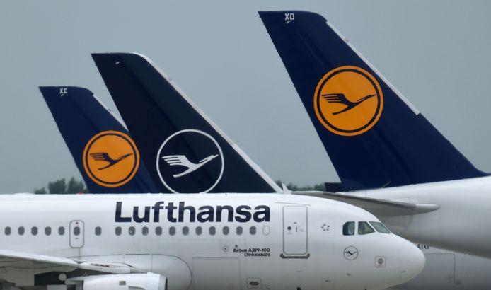 Logo van de Duitse luchtvaartmaatschappij Lufthansa.