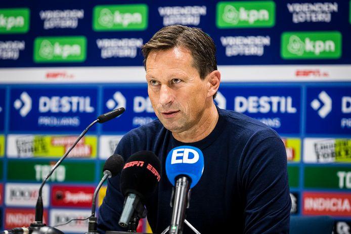 Roger Schmidt na het verloren duel met Willem II van zaterdagmiddag.