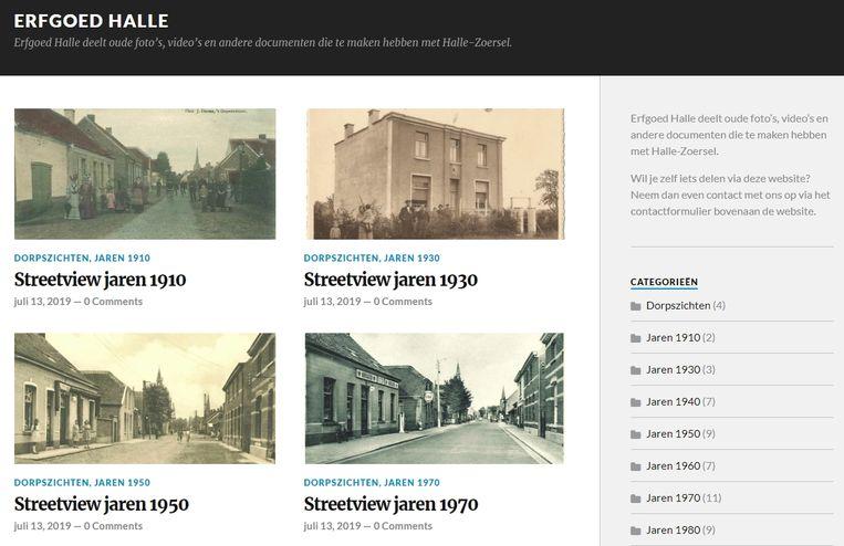 De website bundelt alle oud materiaal over Halle.