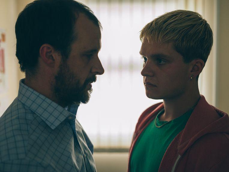 Tom Vaughan-Lawlor als Colm (links) en Tom Glynn-Carney als Jay in Rialto. Beeld Still uit Rialto
