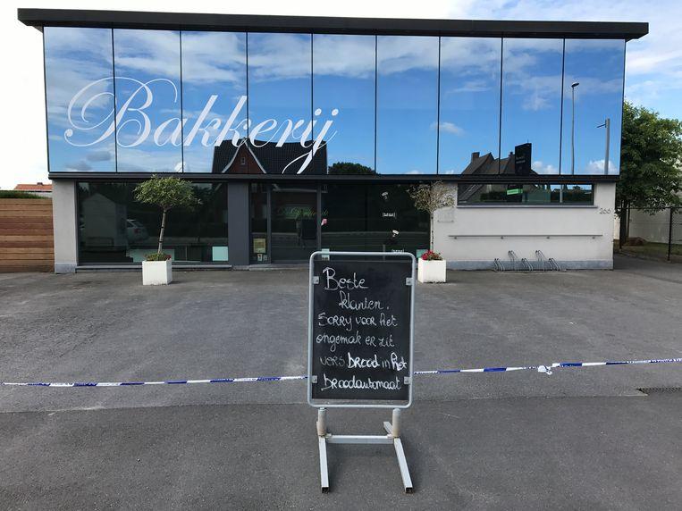 Bakkerij Devriendt  bleef enkele dagen gesloten na de steekpartij.