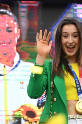 """Gouden Nina Derwael gehuldigd in Sint-Truiden: """"Zijn al heel leuke 72 uren geweest"""""""