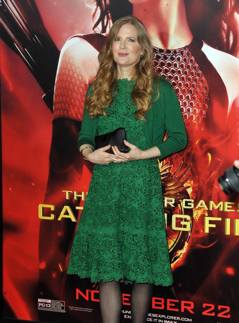 Suzanne Collins, literaire moeder van 'The Hunger Games'. Beeld ap