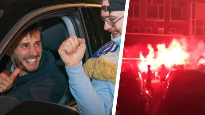 IN BEELD. Vreugde bij Anderlecht en Waasland-Beveren: fans geven spelers een warm welkom