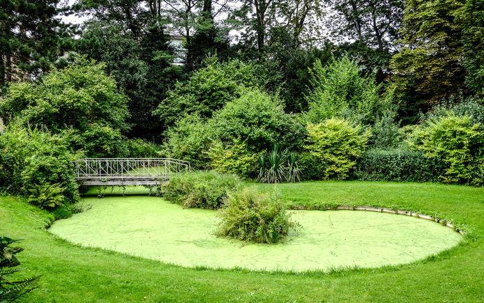 een archiefbeeld van de beschermde tuin