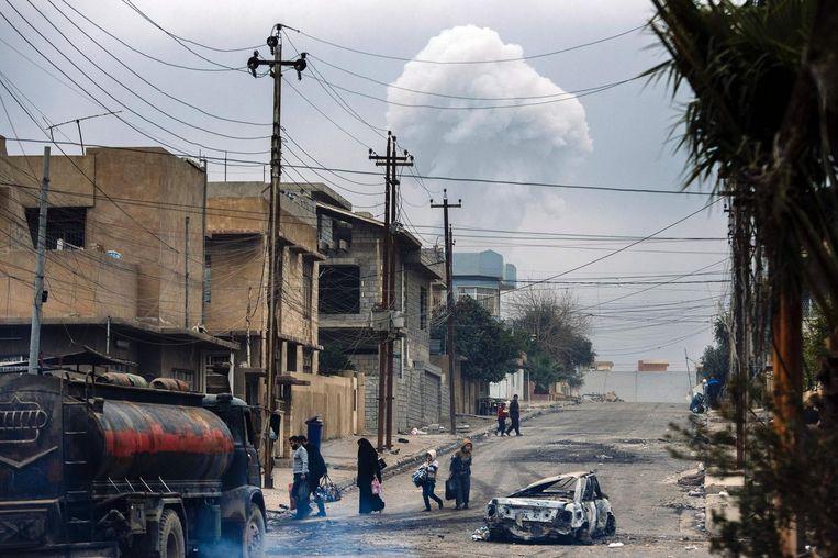 De puinhopen van Mosul. Beeld afp