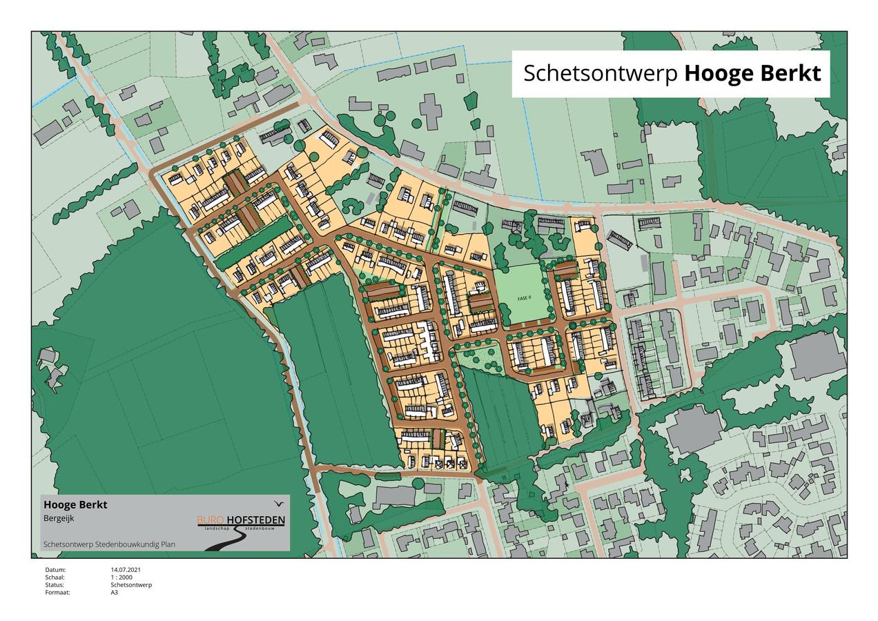 In Uitbreidingsplan Hooge Berkt II komen 180 woningen.