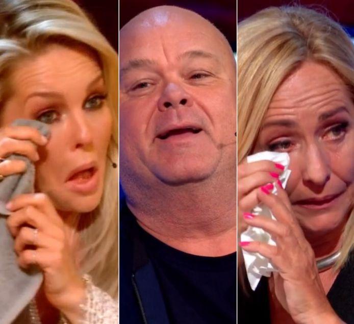 Chantal Janzen, Paul de Leeuw en Angela Groothuizen hielden het bij de auditie niet droog.
