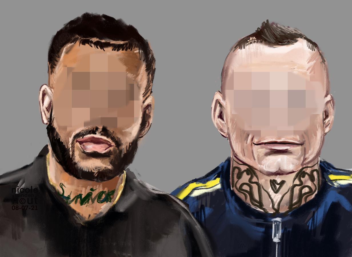 Delano G. (links) en Pawel E. zijn verdachten van de moordaanslag op Peter R. de Vries.