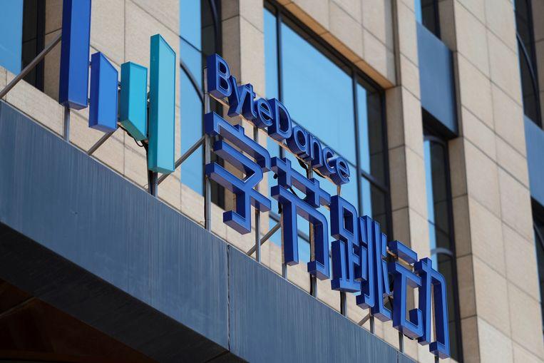 ByteDance, de Chinese internetgigant die TikTok bezit. Beeld REUTERS
