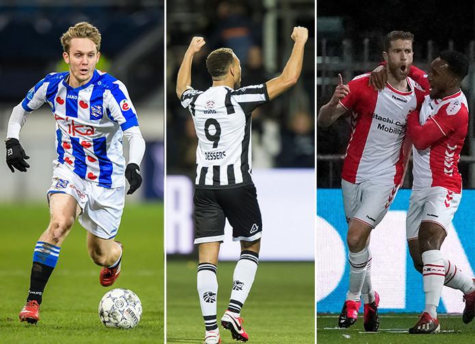 Alen Halilovic, Cyriel Dessers en Michael de Leeuw.