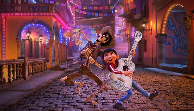 Miguel in de nieuwe Pixar-film 'Coco'. Beeld RV/Pixar