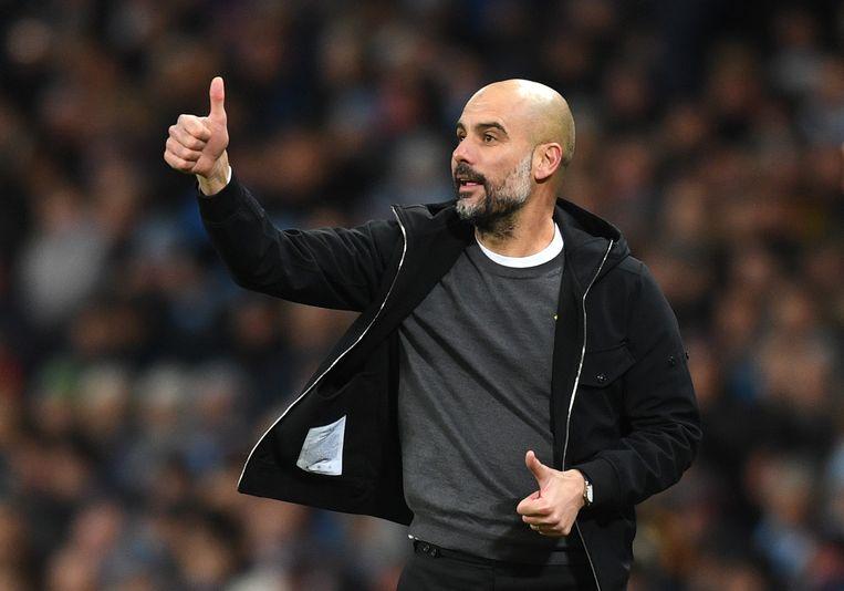 Josep Guardiola, trainer van Manchester City. Beeld Getty Images