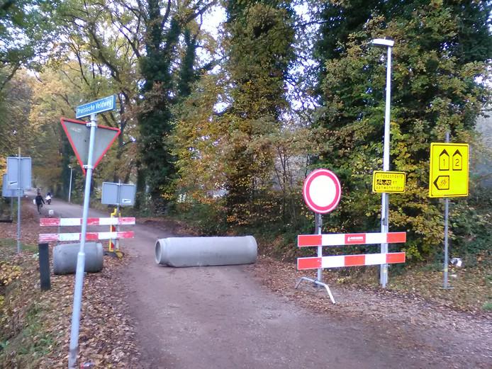 De Pruisische Veldweg is een van de straten die vanaf 8 november volledig is afgesloten