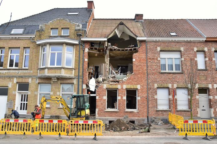 De schade aan de woning van Gisèle Seynaeve was enorm.