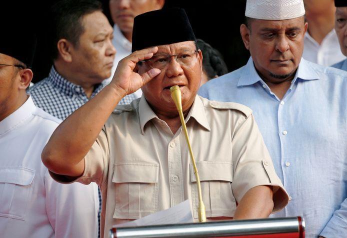Uitdager Prabowo Subianto.