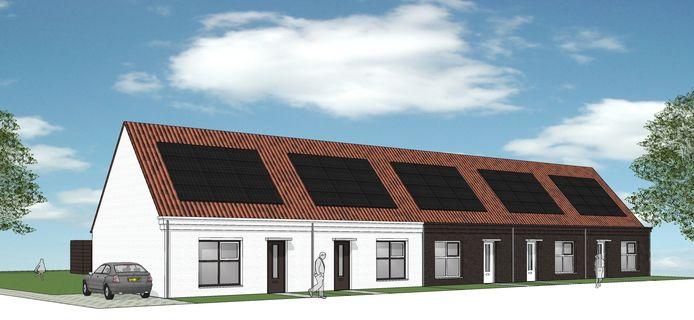 De nieuwe woningen langs de Dishoekseweg, waarvan hier de artist's impression is te zien, voorzien in een behoefte. Het zijn betaalbare, duurzame huurwoningen voor ouderen.