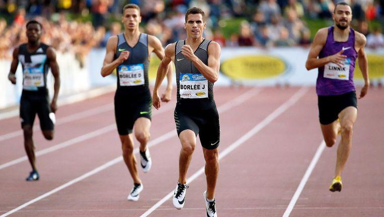 Jonathan Borlée won, jongere broer Dylan werd derde.
