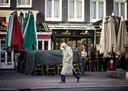 Gesloten horeca in het centrum van Amsterdam.