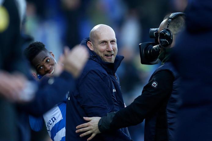 """Jaap Stam genoot van de veerkracht van PEC Zwolle tijdens de sensationele 4-3 zege op Utrecht: ,,Als je ziet tegen welke ploegen we gespeeld hebben, geeft dat alleen maar meer vertrouwen."""""""