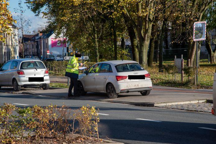 Een verkeersdeskundige van het Parket doet de vaststellingen.