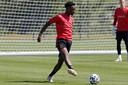 Sambi Lokonga bij de Rode Duivels.