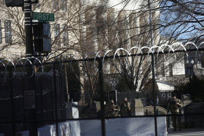 Een extra hek moet het Capitool beschermen tegen een nieuwe aanval.