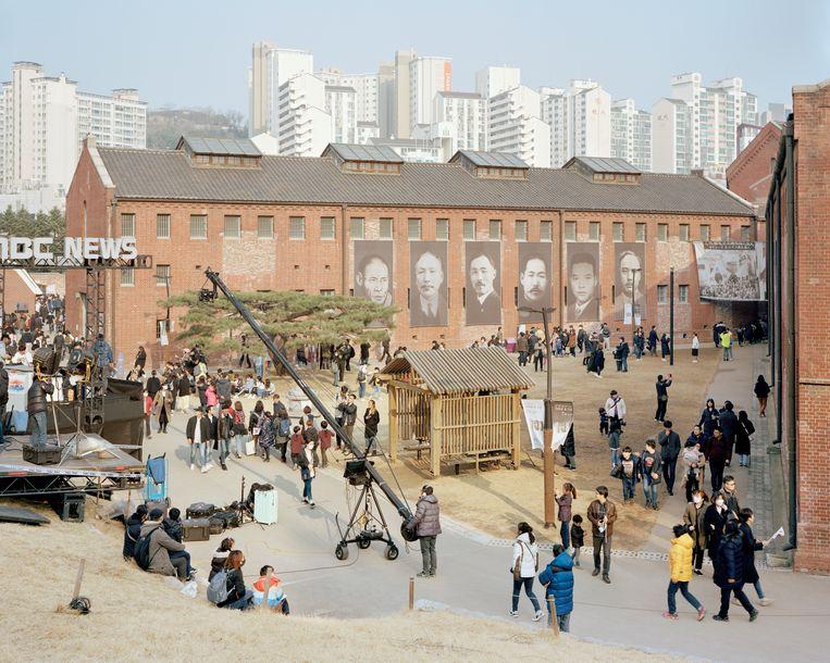 In de voormalige Seodaemun-gevangenis in Seoel is nu een historisch museum gehuisvest, waar onder meer aandacht wordt besteed aan de Japanse bezetting (1910-1945) van het land.   Beeld Seunggu Kim/INSTITUTE