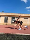 Marrit Fledderus traint in de Spaanse zon voor het komende olympische schaatsseizoen.