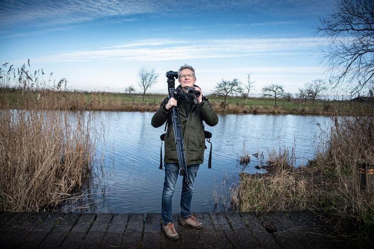 Geert Klein Breteler is sinds de lockdown fanatiek natuur- en vogelfotograaf.  Beeld Koen Verheijden.