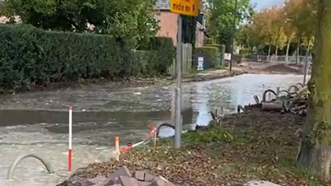 Centrum van Megen tijd zonder water door lekkage