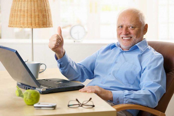 'Hide the Pain Harold'. De man achter een reeks heerlijke stockfoto's werd een wereldberoemde meme.
