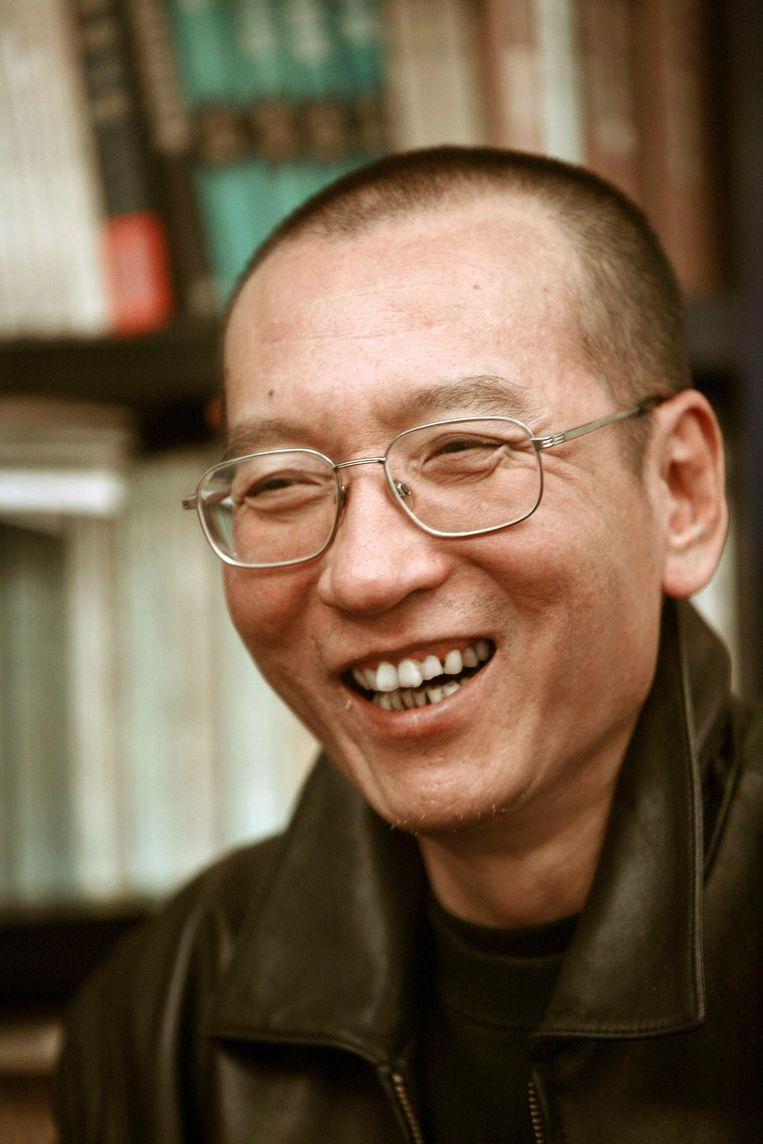 Liu Xiaobo, de gevangen winnaar van de Nobelprijs voor de Vrede. Beeld reuters