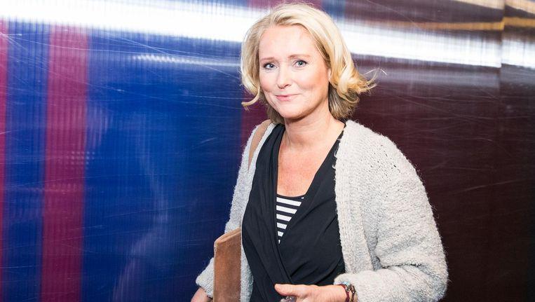 Antoinette Hertsenberg na afloop van opnames van Radar TV. Beeld Jiri Buller
