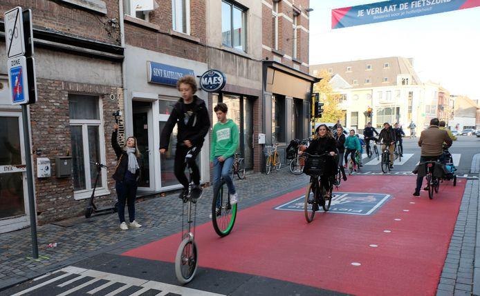 MECHELEN - Opening van grootste fietszone van Vlaanderen in Mechelen.
