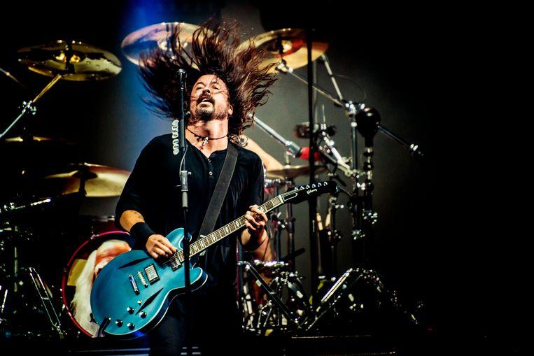 Dave Grohl op Rock Werchter deze zomer. Beeld Stefaan Temmerman