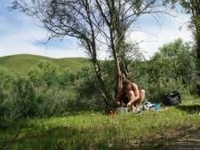 Groningse Lobke kampeert in voortuinen: 'Wildkamperen mag niet meer, dan maar zo'